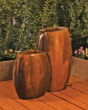Hybrid 2-Part Fountain (GFRC in Rodda bronze)