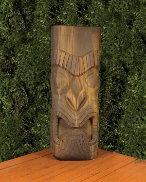 Tiki Statue (GFRC in Absolute finish)