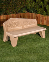Avalon Bench (GFRC in Straw finish)