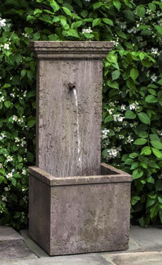 Marais Wall Fountain (Cast Stone in Limestone finish)