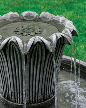 Palomar Fountain detail (Cast Stone in Alpine Stone finish)