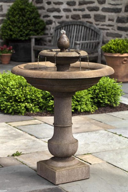 Palos Verdes Fountain (Cast Stone in Aged Limestone finish)