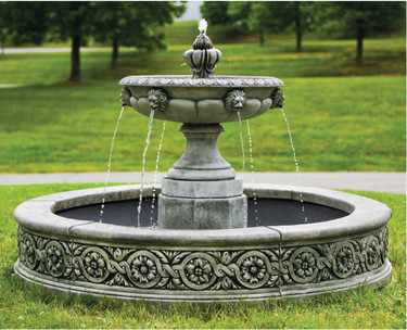 Parisienne One-Tier Fountain (Cast Stone in Alpine Stone finish)