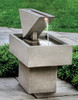 Triad Fountain (Cast Stone in Greystone finish)