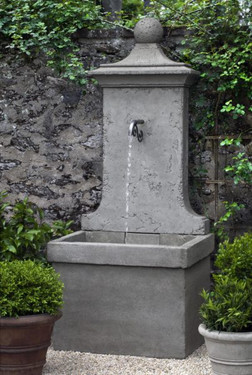 Vence Wall Fountain (Cast Stone in Alpine Stone finish)