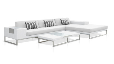 Jane Low Table with Jane Modular Configuration A (JANE Right Hand Sectional and Jane Left Hand Chaise)