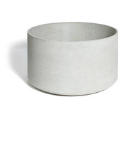 Delta Round Container - Material : Fiber Cement - Finish : Gray