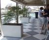 Delta Rectangular Container Indoor Bar - Material : Fiber Cement - Finish : Grey