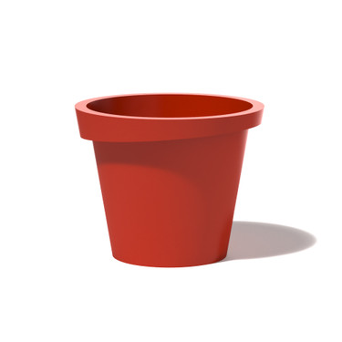 Askew Planter - Material : Aluminum - Finish : Red