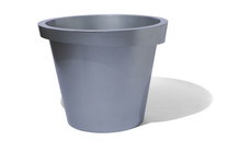 Askew Planter - Material : Aluminum - Finish : Metallic Silver