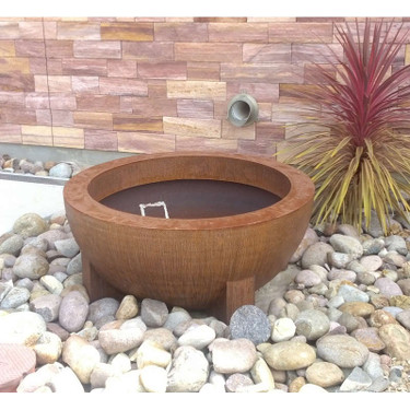 Custom 54 inch diameter Bowl Garden Planter - Material : Mild Steel - Finish Natural Rust