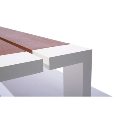 Channel Bench Detail - Material : Aluminum - Finish : Linen