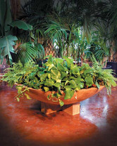 Cross Wok Planter - Material : GFRC - Finish : Desert Rose