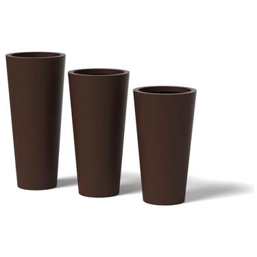 Cone Planter - Material : Aluminum - Finish : Natural Rust