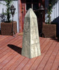 Obelisk Statue - Material : GFRC - Finish : Dark Ancient