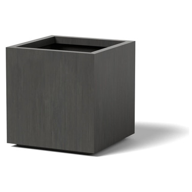 Cube Planter : Material - Aluminum - Finish : Oxidized Zinc