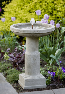 Powys Fountain - Material : Cast Stone - Finish : Greystone