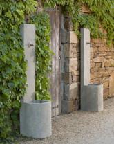 Echo Fountain - Material : Cast Stone - Finish : Verde