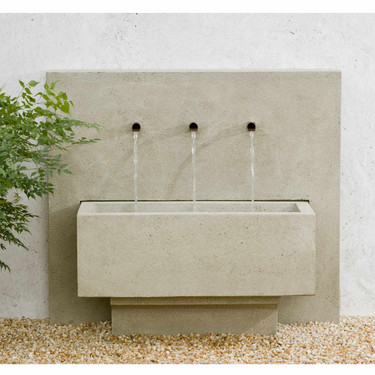 X-3 Fountain - Material : Cast Stone - Finish : Greystone