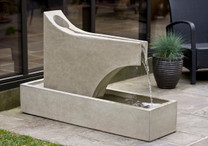 Precipice Fountain - Material : Cast Stone - Finish : Greystone
