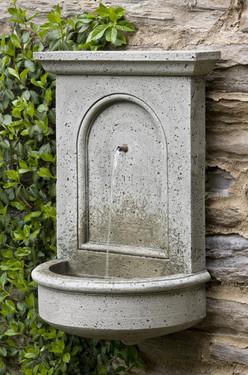 Portico Wall Fountain - Material : Cast Stone - Finish : Alpine Stone