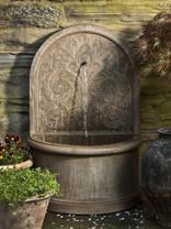 Corsini Wall Fountain - Material : Cast Stone - Finish : Aged Limestone