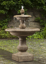 Caterina Fountain - Material : Cast Stone - Finish : Brownstone
