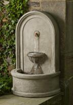 Colonna Fountain - Material : Cast Stone - Finish : Verde