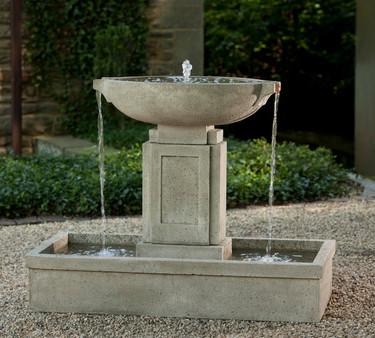 Austin Fountain - Material : Cast Stone - Finish : Alpine Stone