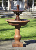 Cortile Fountain(FT-35) - Material : Cast Stone - Finish : Ferro Rustico