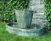 Anfora Fountain   Material : Cast Stone   Finish : Copper Bronze