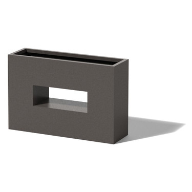 Horizontal Window Box - Material : Aluminum - Finish : Silver