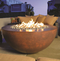 Legacy Round Fire Table wide lip - Material : GFRC