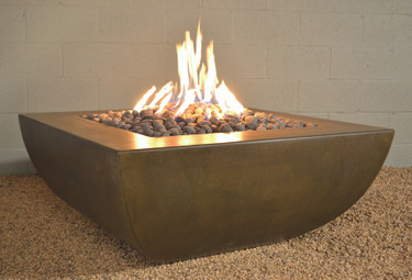 Legacy Square Fire Pit with table top ledge- Material : GFRC