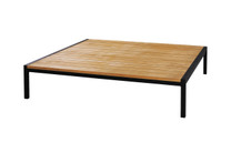 ZUDU low table - Reclaimed Teak, Black Powder Coated Aluminum