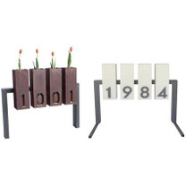 Lantern Metal Address Sign - Material : Steel, Aluminum - Finish : Natural Rust and Linen