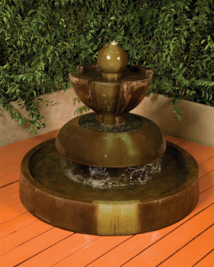 Nova Fountain - Material : GFRC - Finish : Orlona