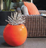 Orb Planter - Material : Aluminum - Finish : Orange