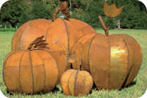Metal Pumpkins All Sizes - Material : Sheet Metal