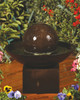 Small Wok with Pedestal Fountain - Material : GFRC - Finish : Amatrice