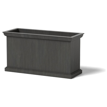Sutton Cornice Planter - Material : Aluminum - Finish : Oxidized Zinc