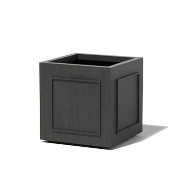 Square Pomo Planter - Material : Aluminum - Finish : Oxidized Zinc