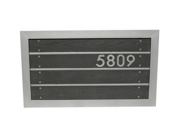 Slat Metal Address Sign - Material : Aluminum - Finish : Black, Silver