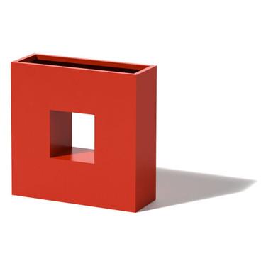 Square Box Planter - Material : Aluminum -Red