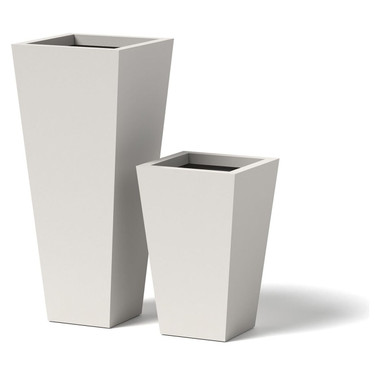 Tapered planter contemporary alternative to the standard for Alternative planters