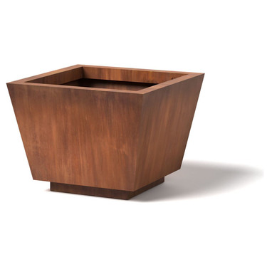 Trapezoid Planter   Material : Corten Steel   Finish : Natural Rust