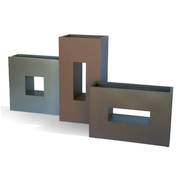 Vertical Box Planter Creative Metal Garden Focal Point