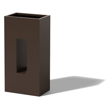 Vertical Box Planter - Material : Aluminum - Finish : Bronze