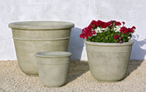 Carema Planter - Material: Cast Stone - Finish : Verde