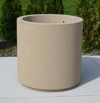 "Concrete Cylinder Planter - 36"""